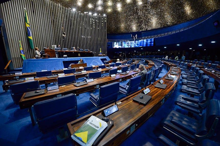 Plenário do Senado Federal durante sessão deliberativa extraordinária.   À mesa, senador Antonio Carlos Valadares (PSB-SE) conduz sessão.   Tribuna:  senadora Ângela Portela (PDT-RR).  Foto: Jefferson Rudy/Agência Senado