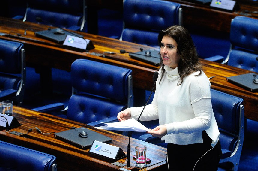 Plenário do Senado Federal durante sessão deliberativa ordinária. Ordem do dia.   Em pronunciamento, senadora Simone Tebet (PMDB-MS).  Foto: Marcos Oliveira/Agência Senado
