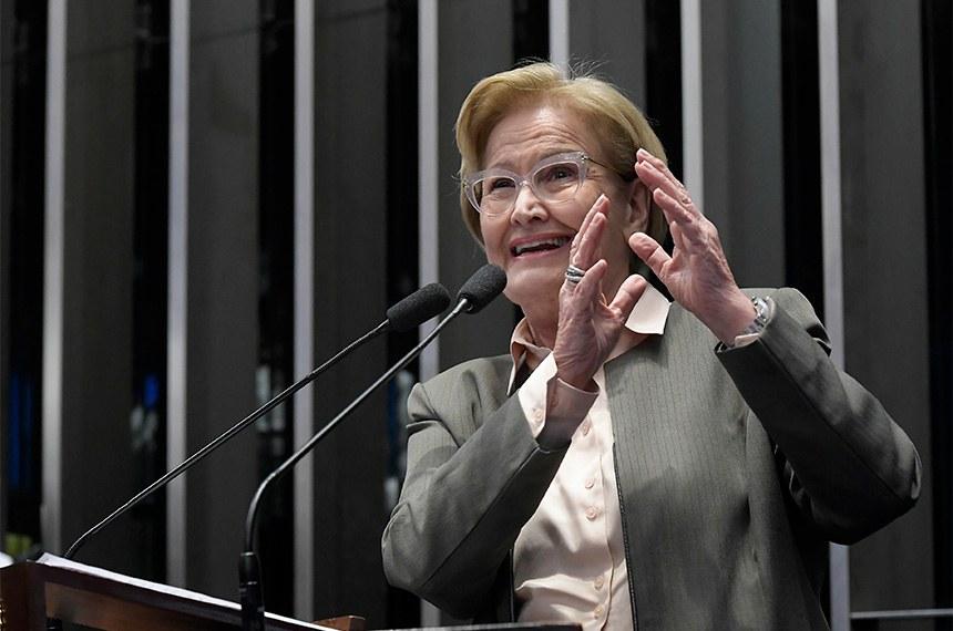Plenário do Senado Federal durante sessão deliberativa ordinária.   Em discurso, à tribuna, senadora Ana Amélia (PP-RS).  Foto: Waldemir Barreto/Agência Senado