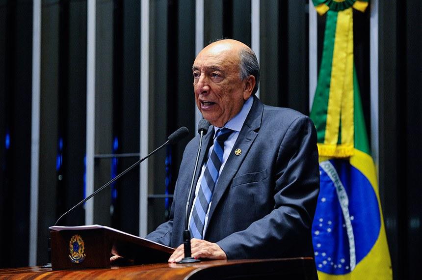 Plenário do Senado Federal durante sessão não deliberativa extraordinária.  Em discurso, à tribuna, senador Pedro Chaves (PRB-MS).  Foto: Edilson Rodrigues/Agência Senado