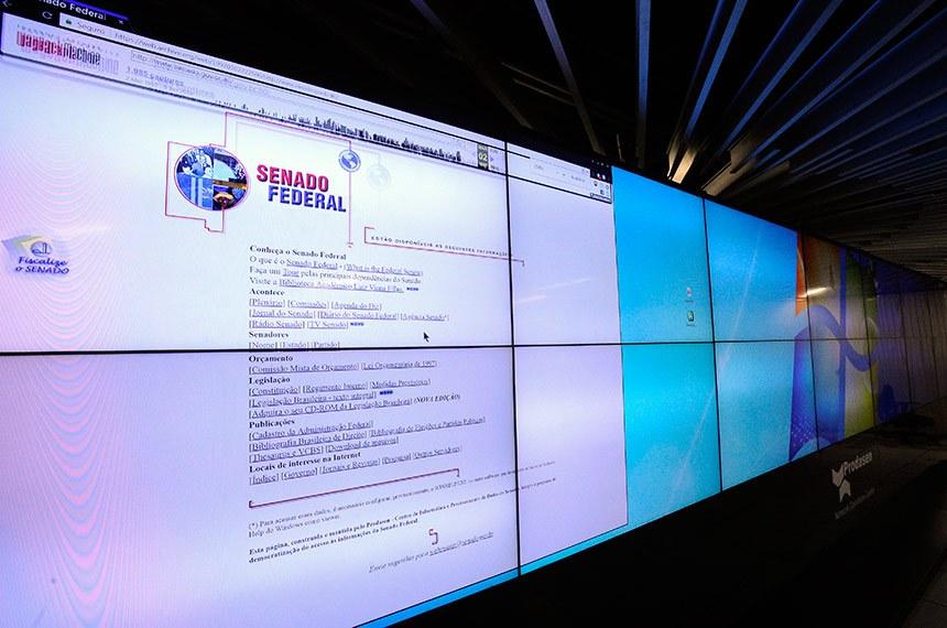 Senado Federal foi pioneiro no uso da internet.  Foto: Edilson Rodrigues/Agência Senado