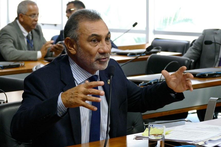 O senador Telmário Mota (PDT-RR) foi o relator da matéria na Comissão de Direitos Humanos e Participação Legislativa