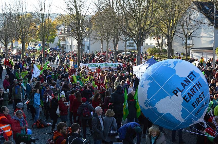 Manifestação durante a COP 23 em Bonn, Alemanha