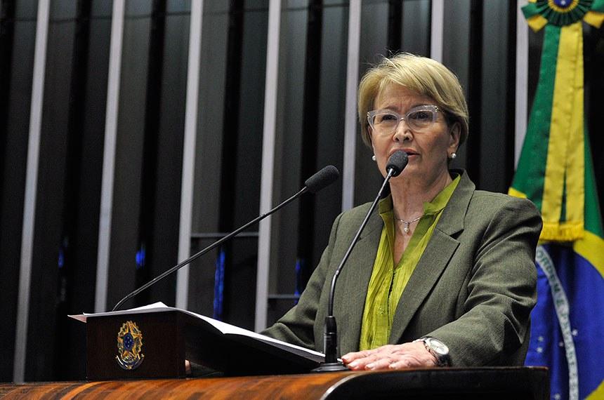 Plenário do Senado Federal durante sessão deliberativa ordinária.   Em discurso, à tribuna, senadora Ana Amélia (PP-RS).  Foto: Moreira Mariz/Agência Senado