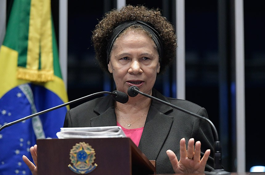 Plenário do Senado Federal durante sessão deliberativa ordinária.   Em discurso, à tribuna, senadora Regina Sousa (PT-PI).  Foto: Waldemir Barreto/Agência Senado