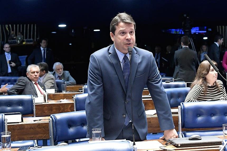 Plenário do Senado Federal durante sessão deliberativa ordinária.   Em pronunciamento, senador Reguffe (sem partido-DF).  Foto: Waldemir Barreto/Agência Senado