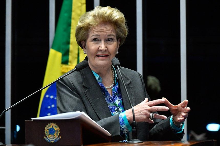 Plenário do Senado Federal durante sessão não deliberativa.   Em discurso, à tribuna, senadora Ana Amélia (PP-RS).  Foto: Geraldo Magela/Agência Senado