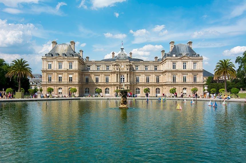 Luxembourg garden in Paris, France