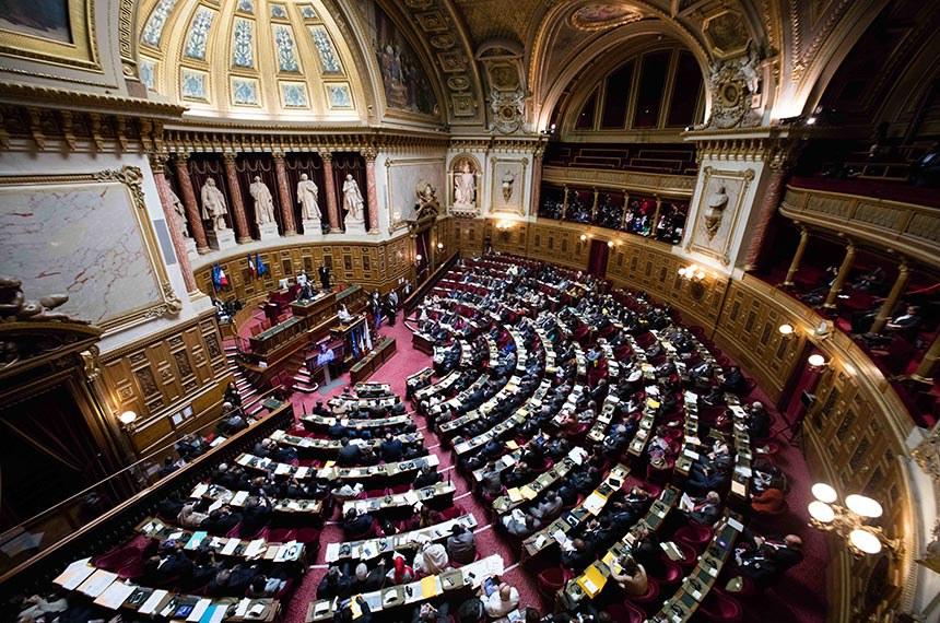 Semicírculo do Palácio de Luxemburgo, sede do Senado Francês