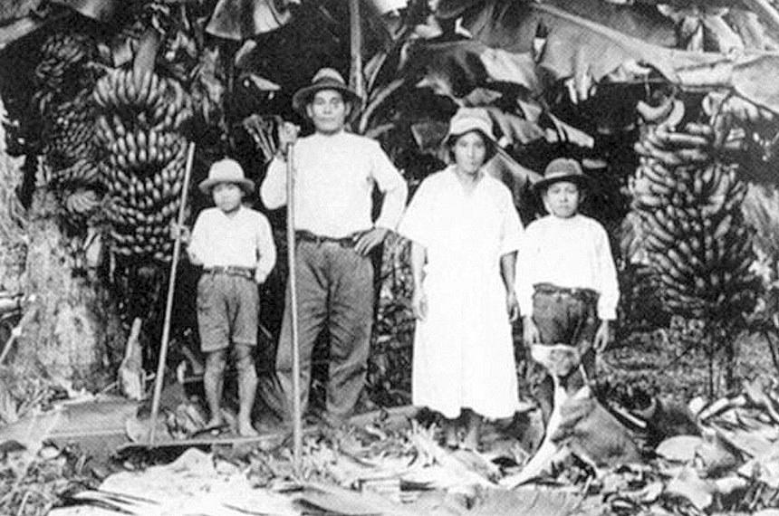 Família de imigrantes japoneses.