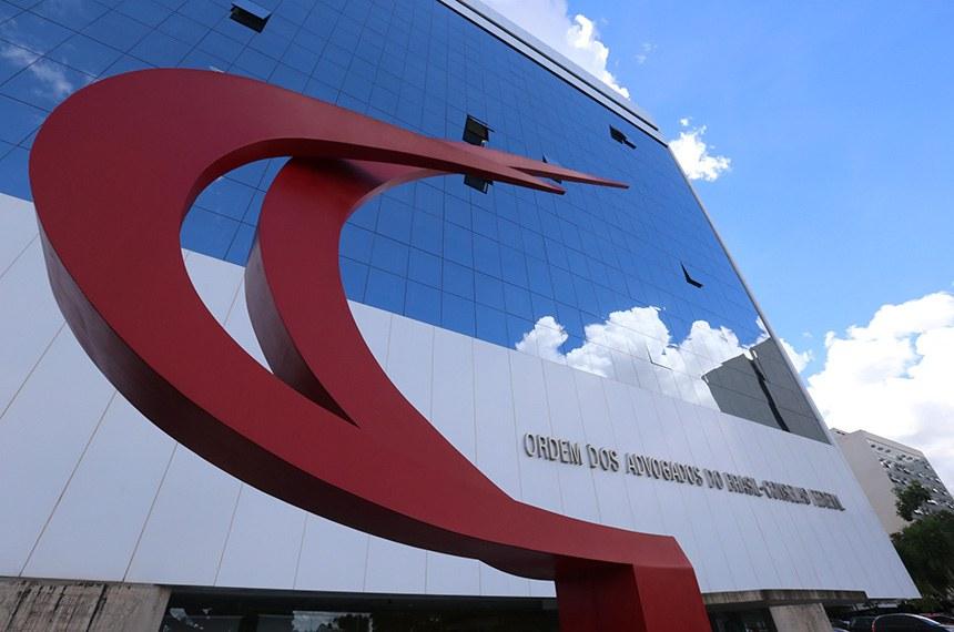 Fachada do prédio sede da Ordem dos Advogados do Brasil (OAB) em Brasília .