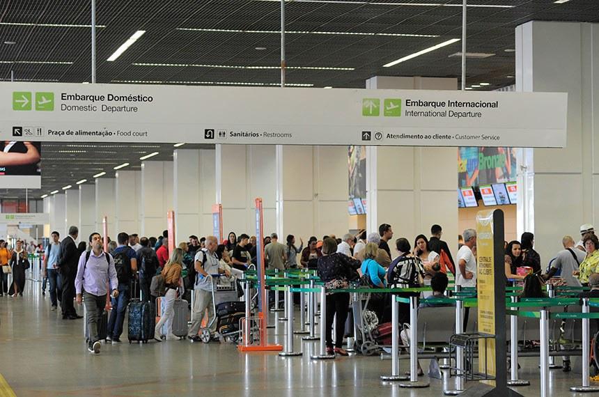 Aeroporto Internacional de Brasília .  Foto: Geraldo Magela/Agência Senado
