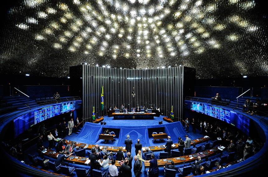 Plenário do Senado durante sessão deliberativa ordinária.  Foto: Marcos Oliveira/Agência Senado