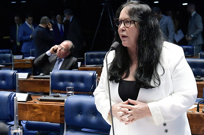 Plenário do Senado Federal durante sessão deliberativa ordinária.   À bancada em pronunciamento, senadora Rose de Freitas (Pode-ES).  Foto: Waldemir Barreto/Agência Senado