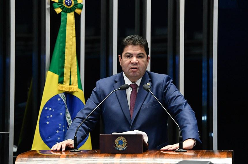 Plenário do Senado Federal durante sessão deliberativa extraordinária.   À tribuna em discurso, senador Cidinho Santos (PR-MT).  Foto: Edilson Rodrigues/Agência Senado