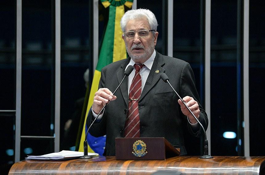 Plenário do Senado Federal durante sessão não deliberativa.   Em discurso, à tribuna, senador Reditário Cassol (PP-RO).  Foto: Pedro França/Agência Senado