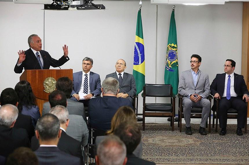 O presidente Michel Temer discursa na cerimônia de assinatura da MP que cria a Agência Brasileira de Museus (Abram), e da MP que visa Estimular Doações Privadas para Projetos de Interesse Público.