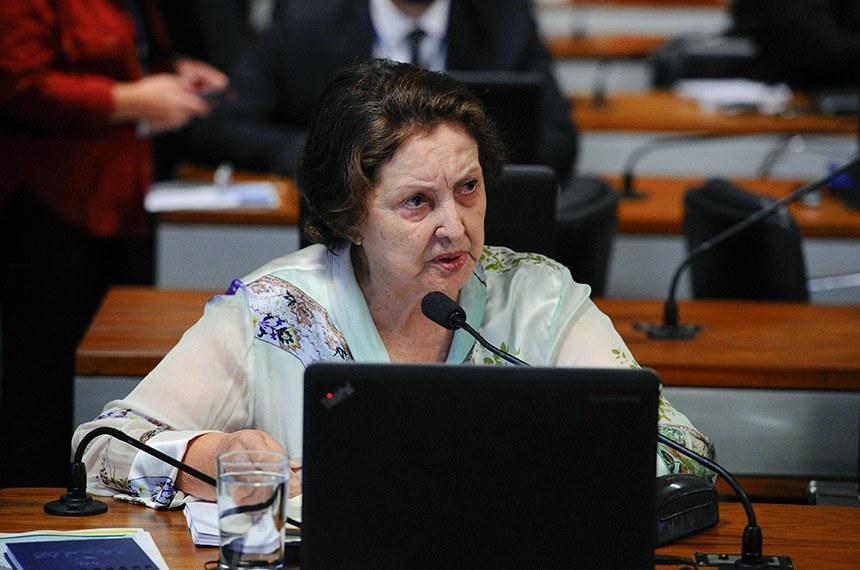 Relatora na CAS, Maria do Carmo apoia o projeto, fruto de uma ideia legislativa apresentada por cidadã