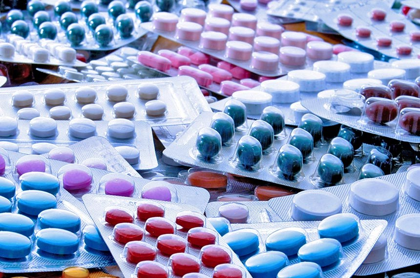 Cartela de medicamentos