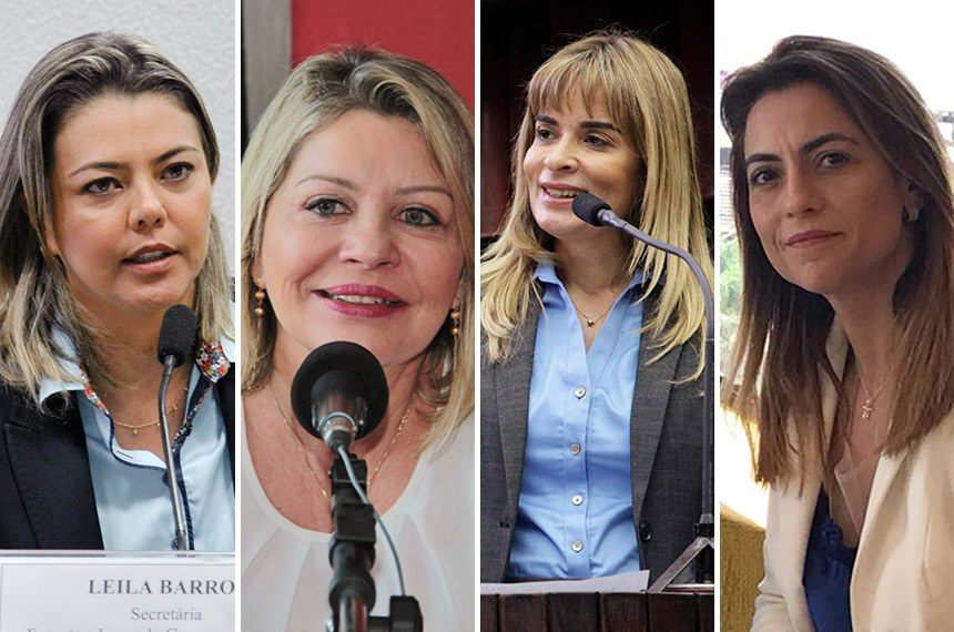 Leila do Vôlei (PSB-DF), Juíza Selma Arruda (PSL), Daniella Ribeiro (PP-PB) e Soraya Thronicke (PSL-MS)