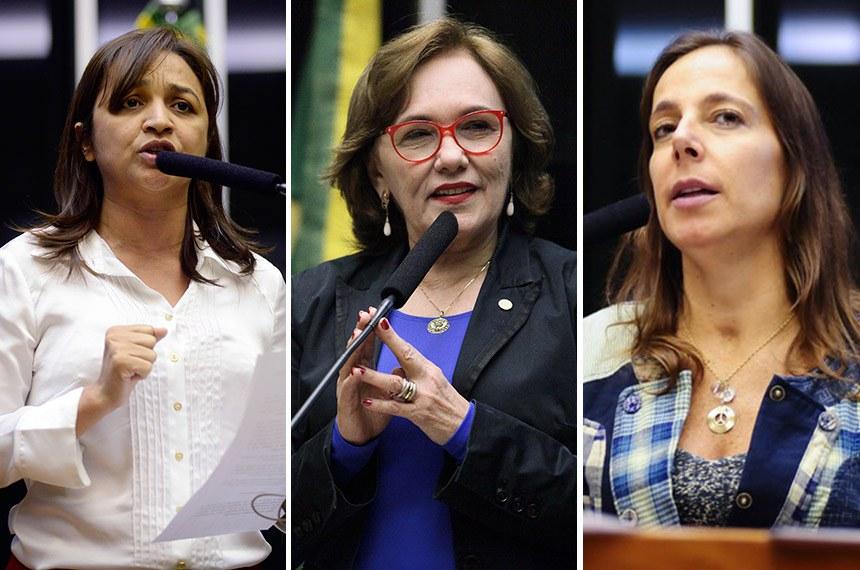 Eliziane Gama (PPS-MA), Zenaide Maia (PHS-RN) e Mara Gabrilli (PSDB-SP)