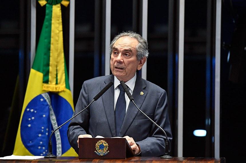 Plenário do Senado Federal durante sessão não deliberativa.   À tribuna em discurso, senador Raimundo Lira (PSD-PB).  Foto: Edilson Rodrigues/Agência Senado