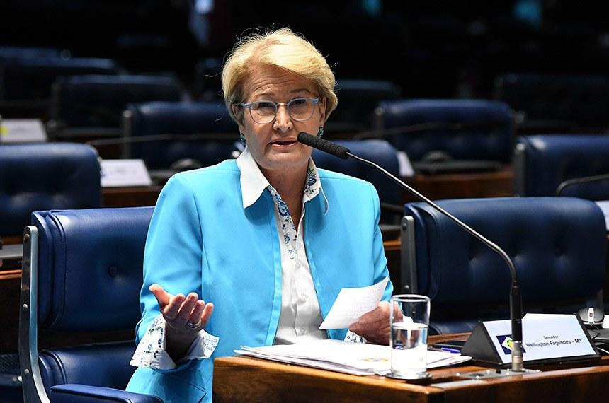 Plenário do Senado Federal durante sessão deliberativa ordinária. Em pronunciamento, à mesa, senadora Ana Amélia (PP-RS). Foto: Jefferson Rudy/Agência Senado