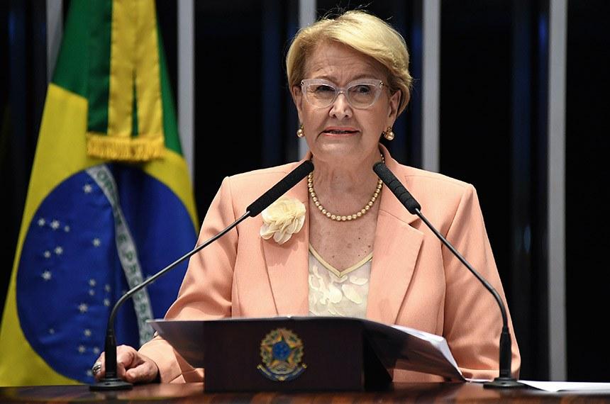 Plenário do Senado Federal durante sessão deliberativa extraordinária. Em discurso, senadora Ana Amélia (PP-RS). Foto: Jonas Pereira/Agência Senado