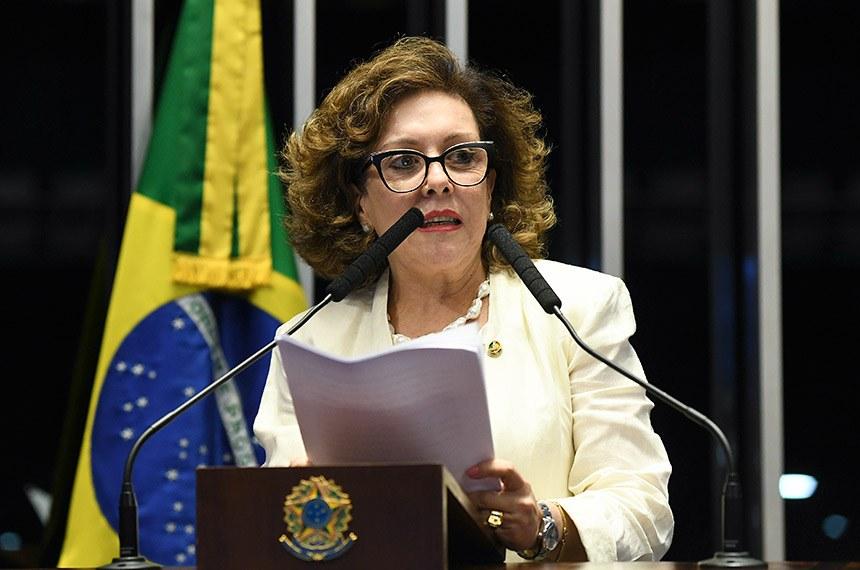 Plenário do Senado Federal durante sessão deliberativa ordinária.   Em discurso, senadora Ione Guimarães (PTB-GO) á tribuna.   Foto: Jefferson Rudy/Agência Senado