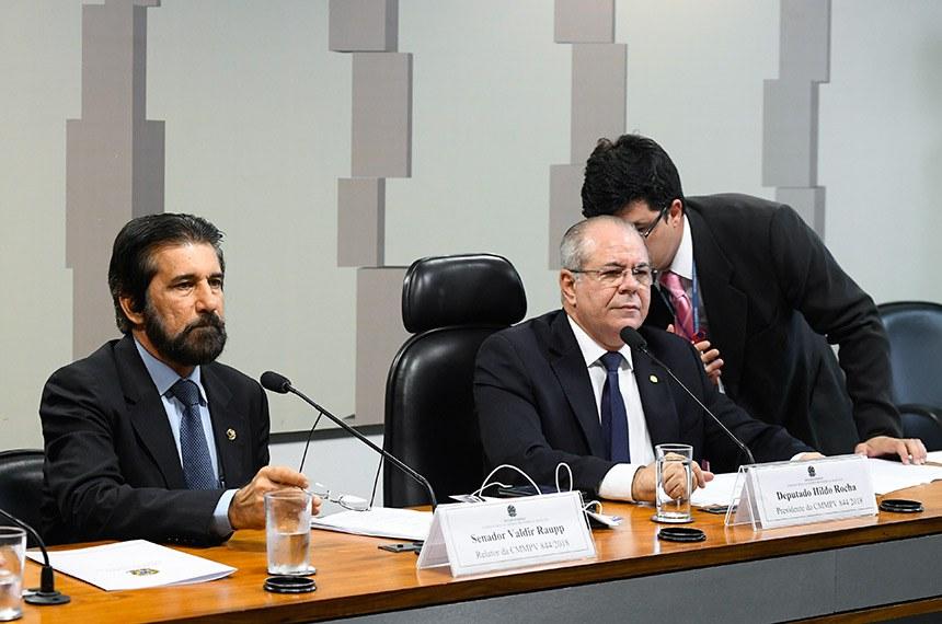Valdir Raupp (à esq.) e Hildo Rocha: relator e presidente da comissão que vai analisar novo marco legal do saneamento básico
