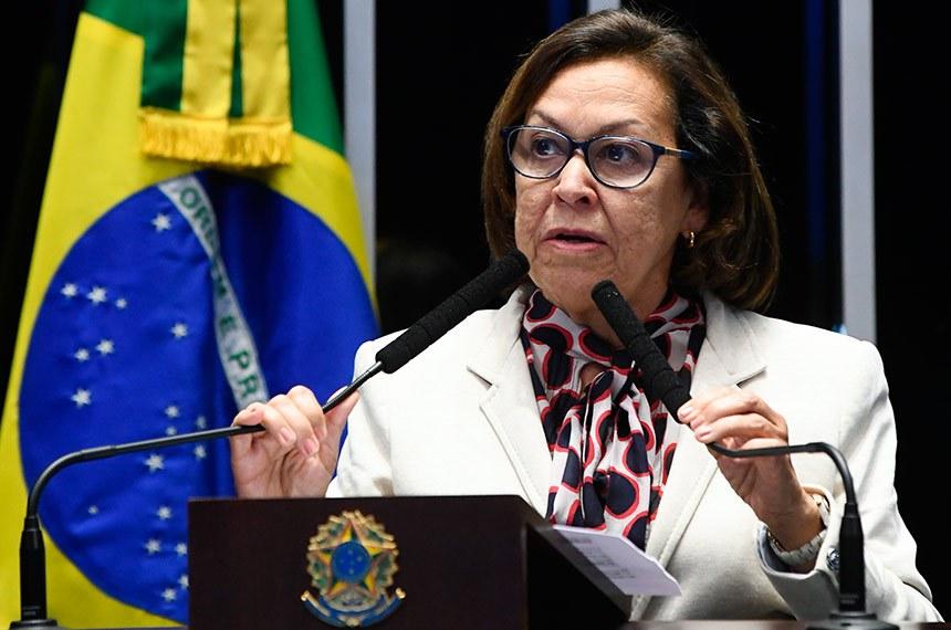 Plenário do Senado Federal durante sessão deliberativa ordinária.   À tribuna em discurso, senadora Lídice da Mata (PSB-BA).  Foto: Marcos Oliveira/Agência Senado