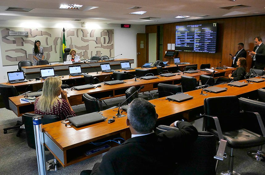 Comissão Permanente Mista de Combate à Violência contra a Mulher (CMCVM) realiza reunião para apreciação das emendas ao Projeto de Lei Orçamentária Anual (PLOA)  2019 e de requerimentos.  À mesa, presidente da CMCVM, deputada Elcione Barbalho (MDB-PA) conduz reunião.  À bancada, deputada Dâmina Pereira (Pode-MG).  Foto: Roque de Sá/Agência Senado
