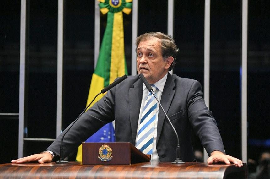 Plenário do Senado Federal durante sessão deliberativa ordinária.   Em pronunciamento, senador Walter Pinheiro (Sem partido-BA).  Foto: Jefferson Rudy/Agência Senado