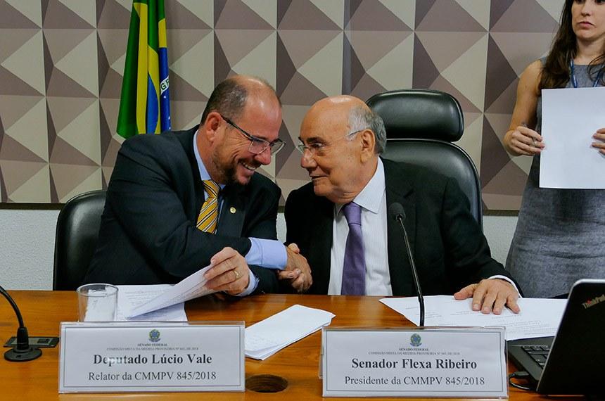 O relator e o presidente da comissão mista viabilizaram na véspera acordo para aprovar alterações à Medida Provisória para dinamizar os investimentos no subsistema da Ferrovia Norte-Sul