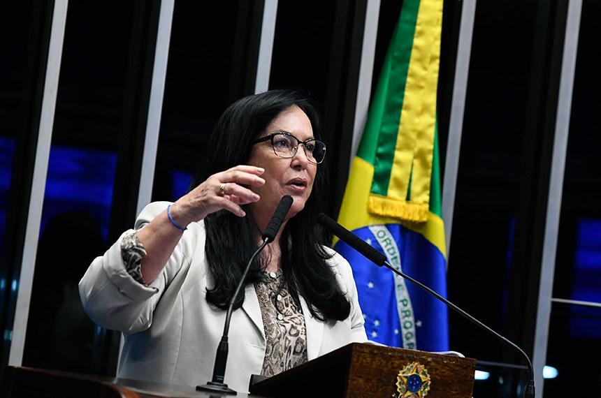 Plenário do Senado Federal durante sessão não deliberativa.   À tribuna em discurso, senadora Rose de Freitas (Pode-ES).  Foto: Marcos Oliveira/Agência Senado