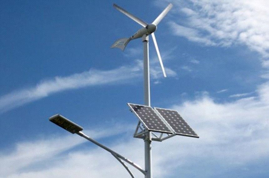 Energia híbrida independente,  energia eólica e energia solar