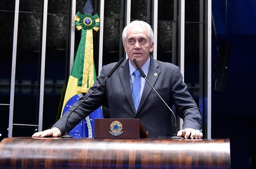 Plenário do Senado Federal durante sessão deliberativa ordinária.   Em discurso, senador Otto Alencar (PSD-BA).  Foto: Waldemir Barreto/Agência Senado