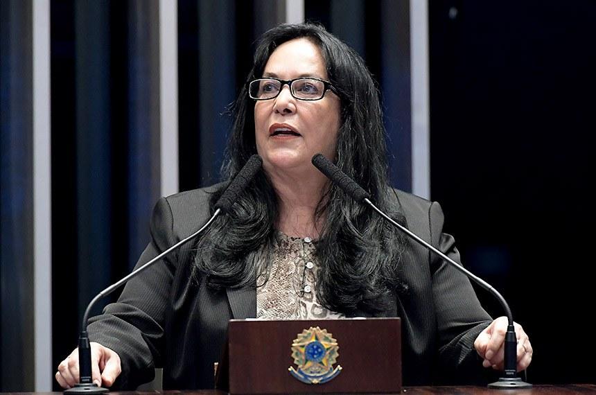 Plenário do Senado Federal durante sessão deliberativa ordinária.   Em discurso, à tribuna, senadora Rose de Freitas (Pode-ES).  Foto: Waldemir Barreto/Agência Senado