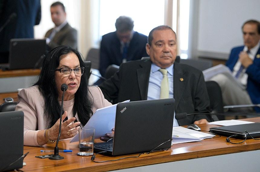 Comissão de Assuntos Econômicos (CAE) realiza reunião deliberativa.  Bancada: senadora Rose de Freitas (Pode-ES); senador Vicentinho Alves (PR-TO).  Foto: Pedro França/Agência Senado