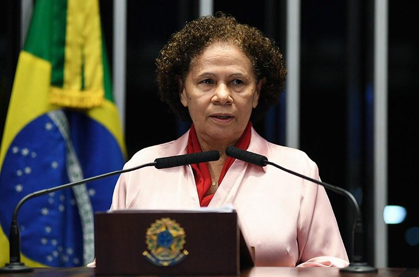 Plenário do Senado Federal durante sessão deliberativa ordinária.   Em discurso, senadora Regina Sousa (PT-PI).   Foto: Jefferson Rudy/Agência Senado