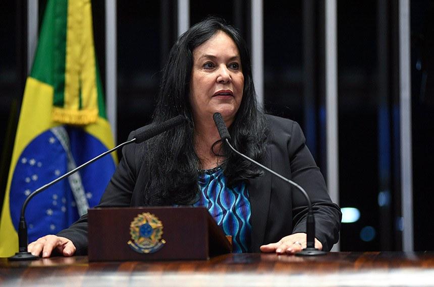 Plenário do Senado Federal durante sessão deliberativa ordinária.   Em discurso, à tribuna, senadora Rose de Freitas (Pode-ES).  Foto: Jefferson Rudy/Agência Senado