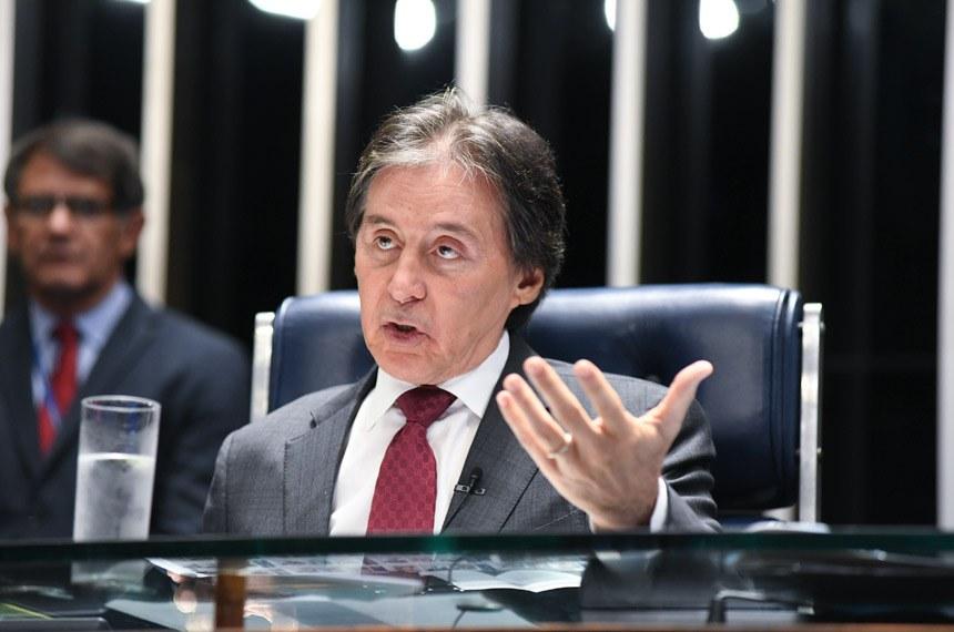 Eunício explicou que ainda não foi possível chegar a um acordo com o Palácio do Planalto sobre a participação de estados e municípios na receita da cessão onerosa