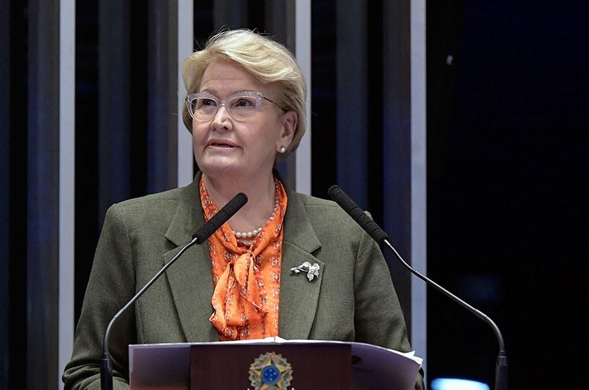 Plenário do Senado Federal durante sessão deliberativa ordinária.   À tribuna em discurso, senadora Ana Amélia (PP-RS).  Foto: Waldemir Barreto/Agência Senado