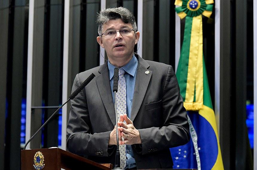 Plenário do Senado Federal durante sessão deliberativa ordinária.   Em discurso, senador José Medeiros (Pode-MT).  Foto: Waldemir Barreto/Agência Senado