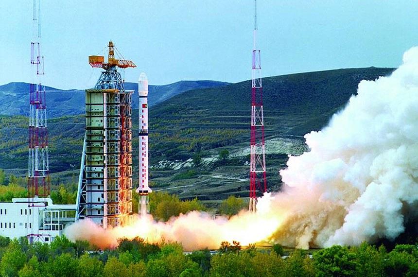 Visão aérea do centro de lançamento de Alcântara.
