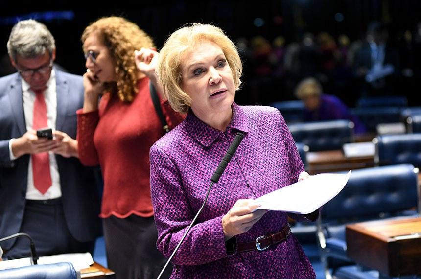 Marta Suplicy defende o projeto em Plenário