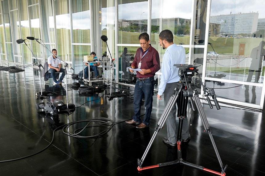 Preparativos para abertura dos trabalhos legislativos de 2018 - Transmissão conjunta Rádio/TV Senado para registro da gravação do piloto.  Foto: Jefferson Rudy/Agência Senado