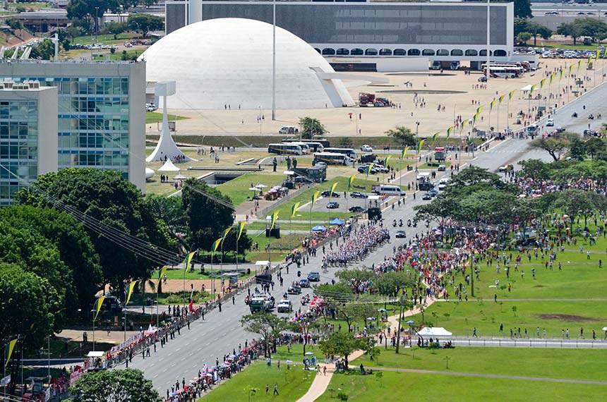 Solenidade de posse da Presidente da República Dilma Rousseff.   Foto: Fernando Bizerra/Agência Senado