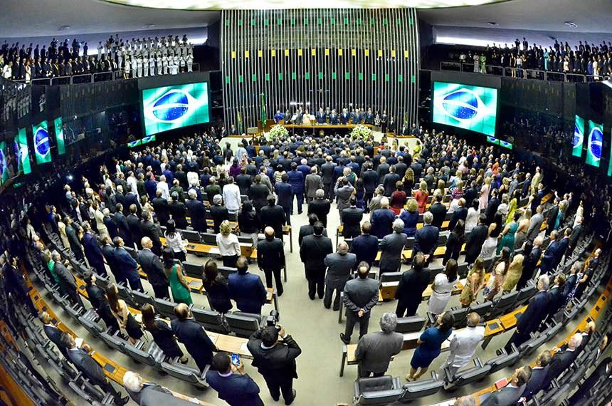 Plenário da Câmara dos Deputados durante solenidade de posse da Presidente da República, Dilma Rousseff.   Foto: Waldemir Barreto/Agência Senado