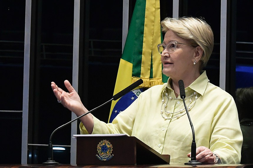 Plenário do Senado Federal durante sessão não deliberativa.   Em discurso, senadora Ana Amélia (PP-RS).   Foto: Waldemir Barreto/Agência Senado